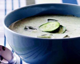Salatalıklı ve Kavunlu Yaz Çorbası Tarifi
