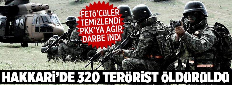 Hakkaride 320 terörist öldürüldü