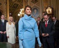 Melania Trumpın elbisesinde dikkat çeken detay