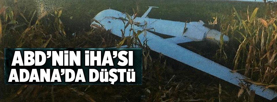 Adanada ABDye ait insansız hava aracı düştü