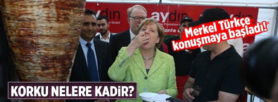 Türk oyu korkusu Merkele Türkçe konuşturdu