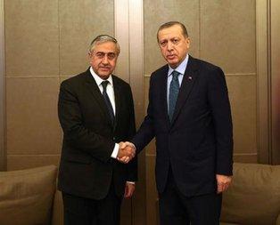 Cumhurbaşkanı Erdoğan Mustafa Akıncı'yı kabul etti
