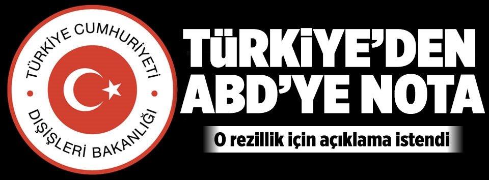 Türkiyeden ABDye protesto notası