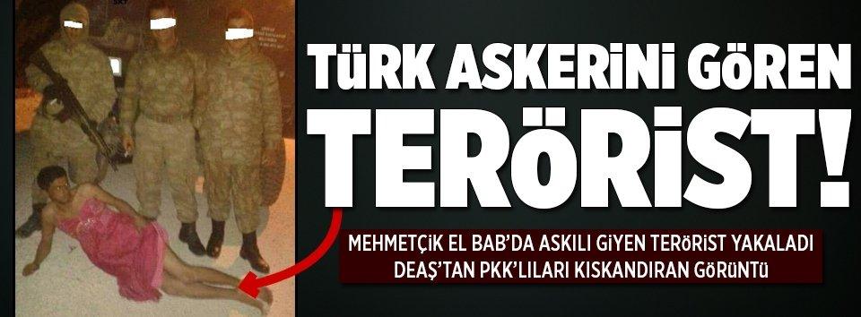 Kadın kılığına girmiş bir DEAŞlı terörist yakalandı!
