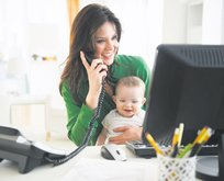 Çalışan anneye bin 500 TL