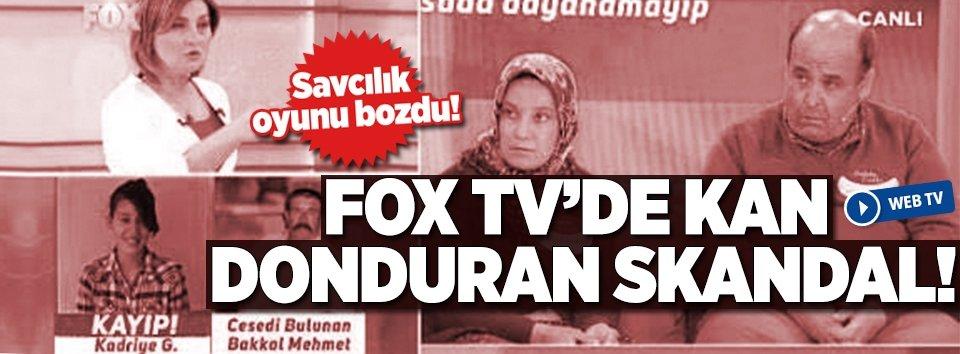 Fox TVde kan donduran skandal!
