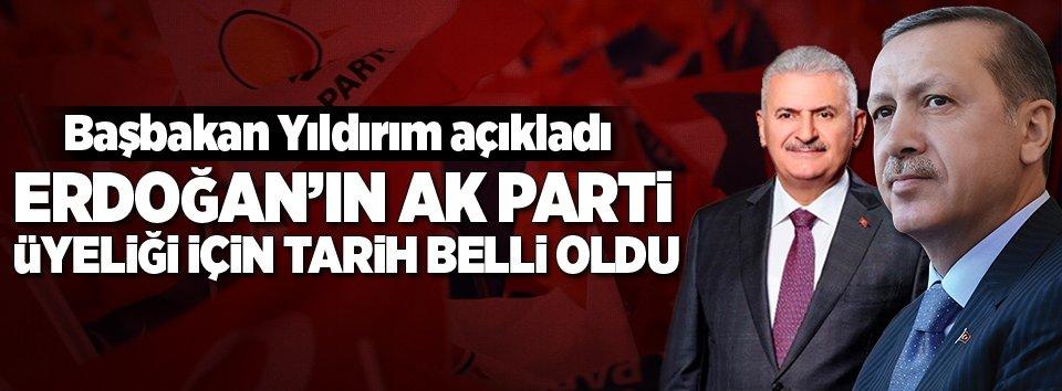 Erdoğanın AK Partiye üye olacağı tarih belli oldu!