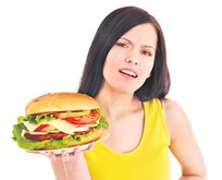 Hamburger-şeker karaciğer biter!