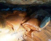 PKKlı hainlerin inlerinde 7 ton patlayıcı bulundu