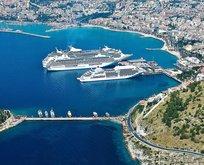 Kuşadası'na 3 gemi ile 6 bin turist