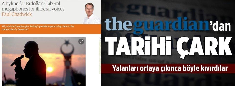 The Guardiandan Cumhurbaşkanı Erdoğan çarkı