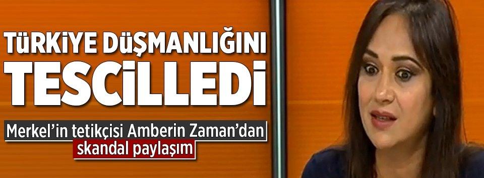 Amberin Zaman, Türkiye düşmanlığını tescilledi