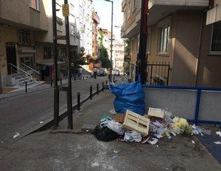 Şişli sokaklarında çöp dağları oluştu