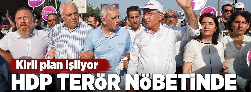 HDP terör nöbetinde