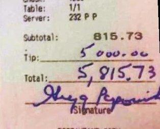 Popovich'ten 5 bin dolar bahşiş