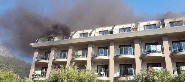 Antalyada lüks otelde yangın
