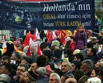 Bursa'da anlamlı pankart