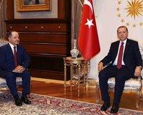 Cumhurbaşkanı Erdoğan, Barzaniyi kabul etti