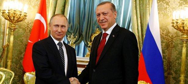 Erdoğan ile Putin Kremlinde görüştü