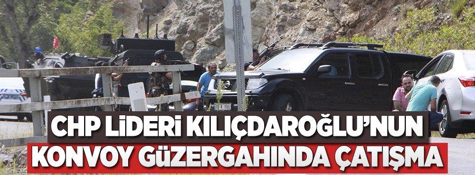 Kılıçdaroğlunun konvoyu iki ateş arasında kaldı
