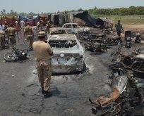 Pakistanda tanker patladı: 122 ölü