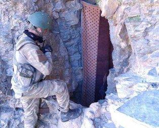 İşte PKKlı teröristlerin mağarasından görüntüler