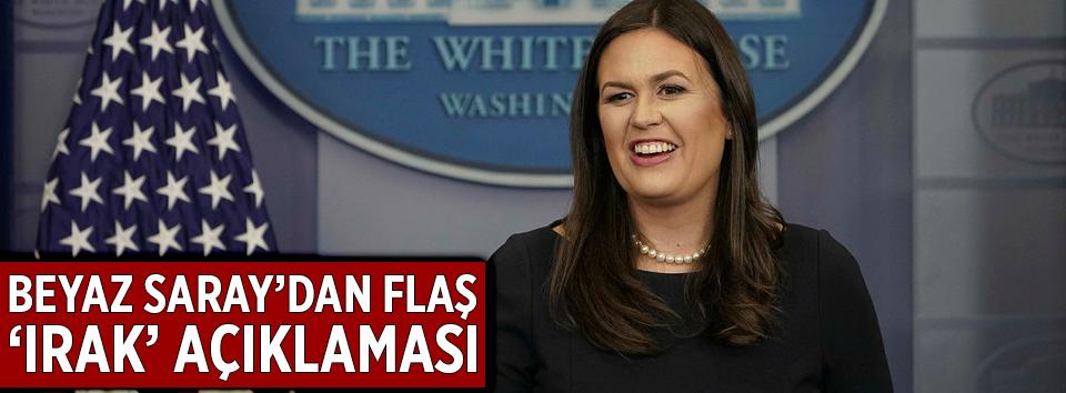 Beyaz Saraydan Irak açıklaması