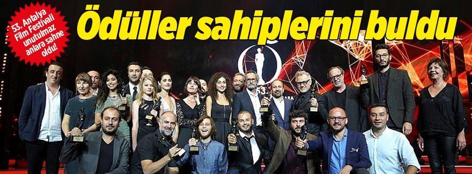 Antalya Film Festivalinde ödüller sahiplerini buldu
