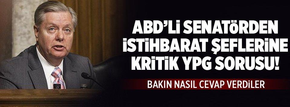 ABDli senatörden istihbarat şeflerine YPG sorusu