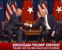 Erdoğan-Trump Zirvesi başladı