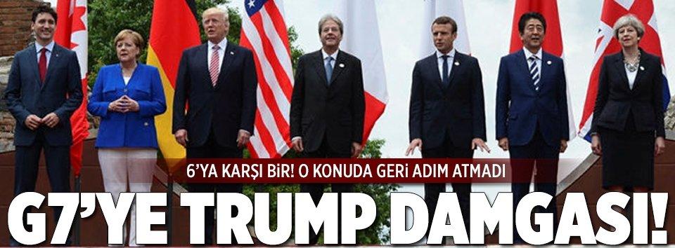 G7'ye Trump damgası: 6'ya karşı 1