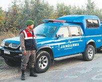 Jandarma aracıyla firar