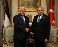 Başbakan Yıldırım, Mahmud Abbasla görüştü