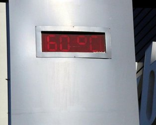 Termometreler 60 dereceyi gösterdi