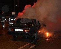Kaza yapan sürücü sinirlenince...