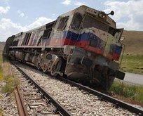 Hainlerden yük trenine bombalı saldırı