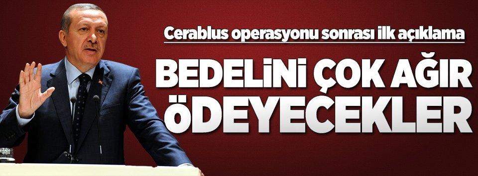 Erdoğandan operasyon sonrası ilk açıklama