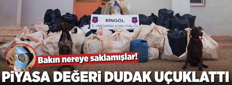 Bingöl'de dev uyuşturucu operasyonu