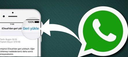 WhatsApp'ta eski mesajları geri yükleme yöntemi