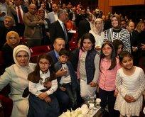 Çocuklardan Cumhurbaşkanı Erdoğana yoğun ilgi
