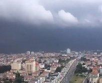 Fırtına İstanbula böyle geldi