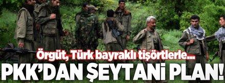 Türk bayraklı tişörtlerle tünel kazıyorlar!