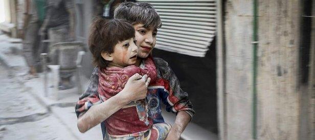 Halepte çocukların cesetleri kömür oldu