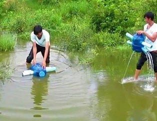 Sıradışı balık avlama tekniği!