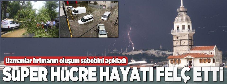 İstanbulda süper hücre hayatı felç etti