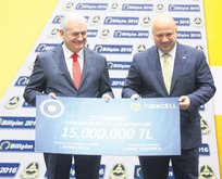 Kahramanlara 15 milyon lira