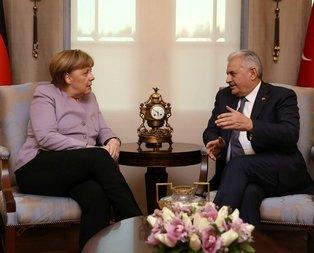 Yıldırım - Merkel görüşmesi başladı