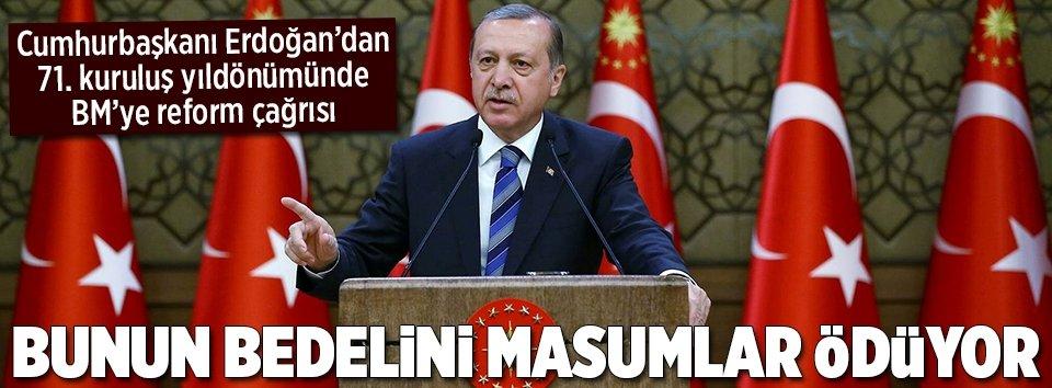Erdoğandan BMye reform çağrısı