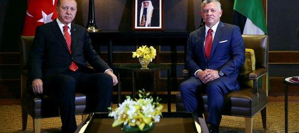 Erdoğan ve Ürdün Kralı 2. Abdullahın görüşmesinin ardından ortak bildiri yayımlandı