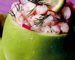 Karidesli Yeşil Elma Salatası Tarifi